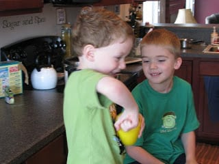 kids playing with fart putty