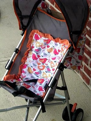 stroller pad sewing tutorial
