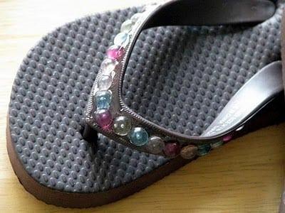beaded flip flops
