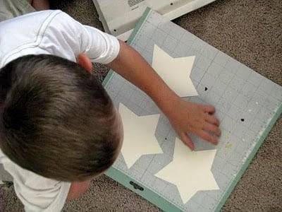 removing stars from cutting mat