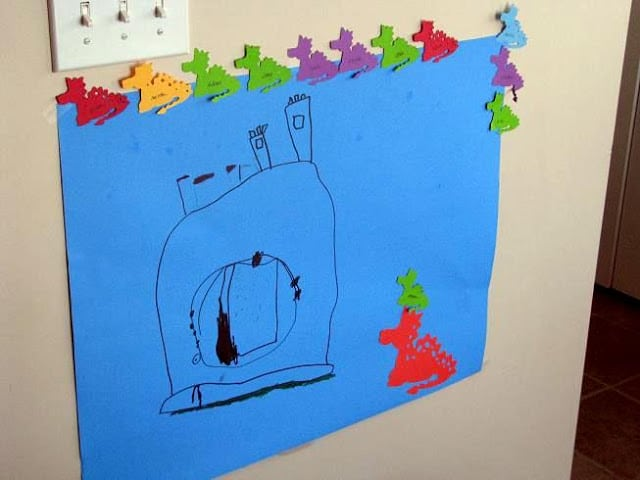 pin the dragon on the castle game