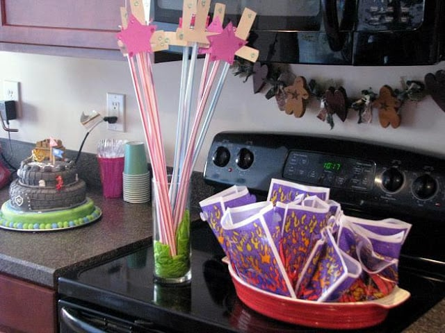 pixie sticks and party favor bags
