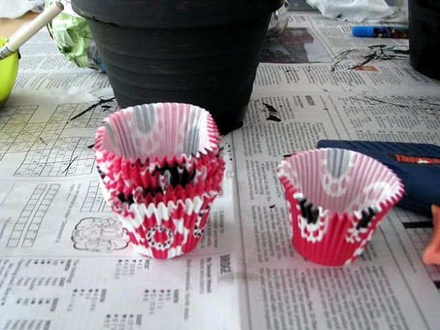 pink cupcake wrappers
