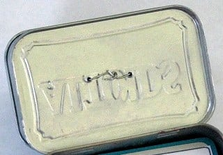 mini tool box craft lid open