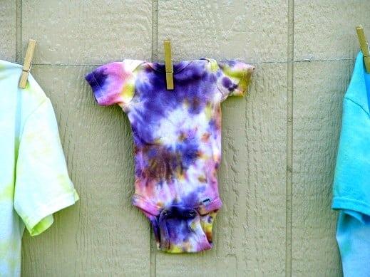 tie dyed onesie