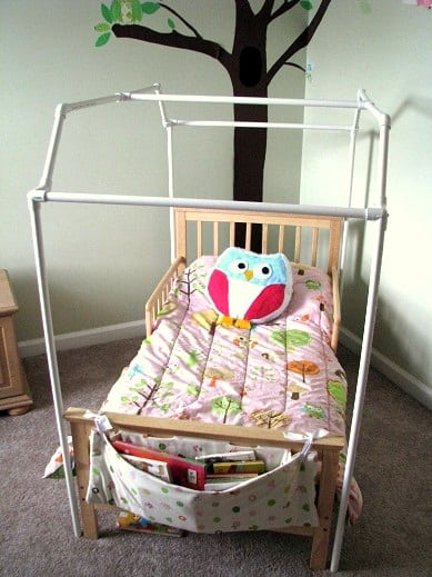 pvc pipe frame around toddler bed