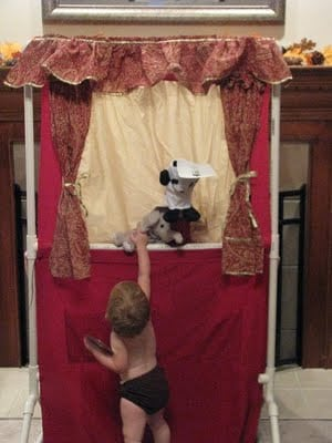 pvc pipe puppet theater