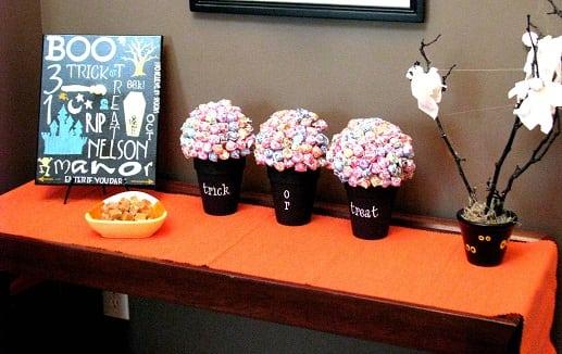 Halloween lollipop trees