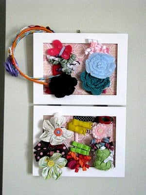 small framed hair bow holder