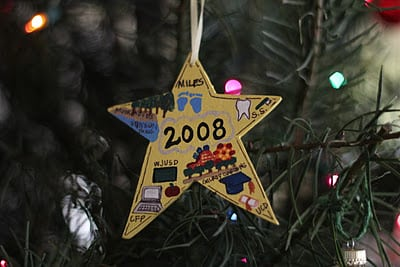 homemade personalized ornament 2008