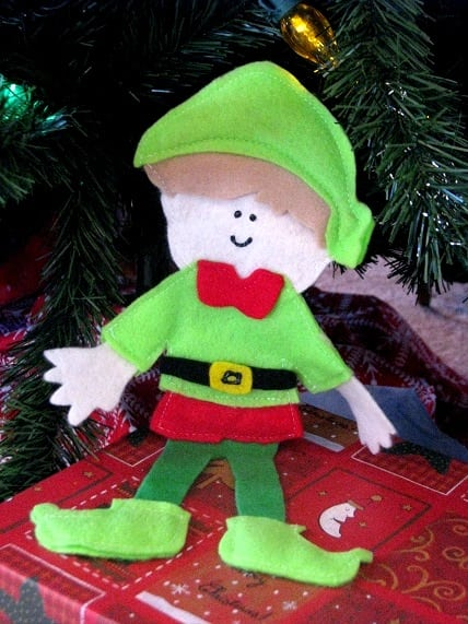 felt elf on the shelf doll
