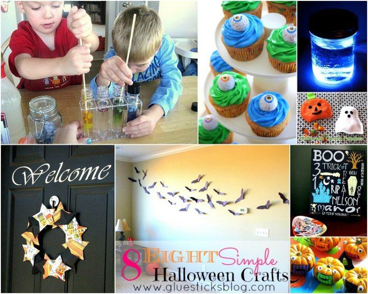 easy halloween craf collaget