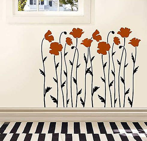 poppy-flower-stencil