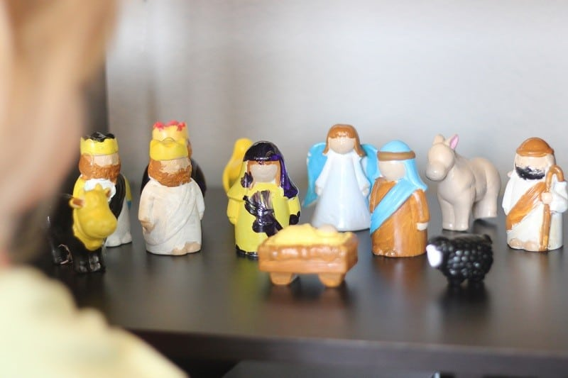 ceramic nativity scene for kids to paint