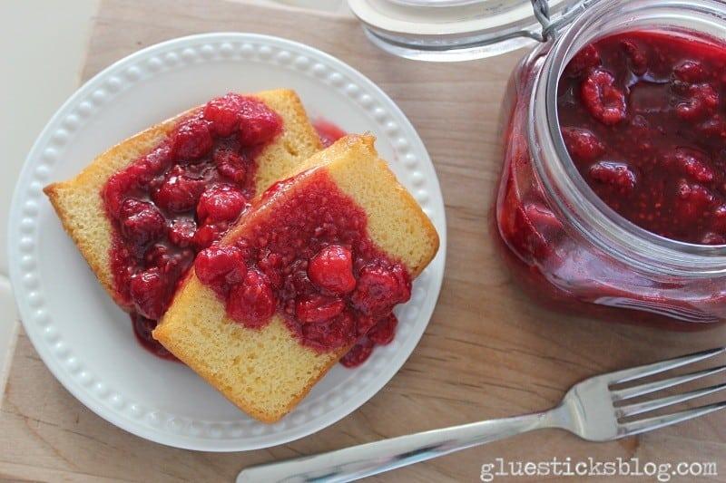 Raspberry Pound Cake