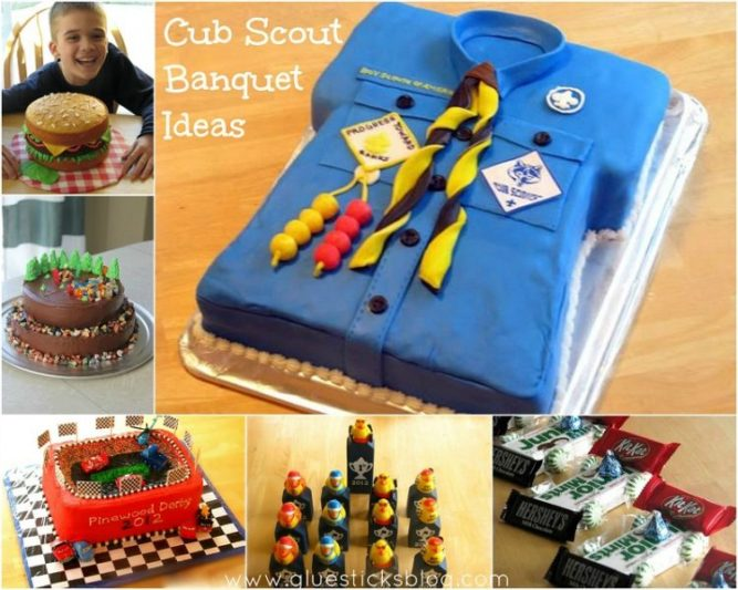 collage of cub scout banquet ideas