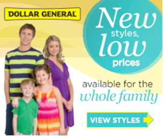 Dollar General Spring Apparel