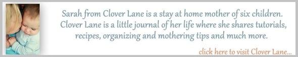 text button for Clover Lane blog