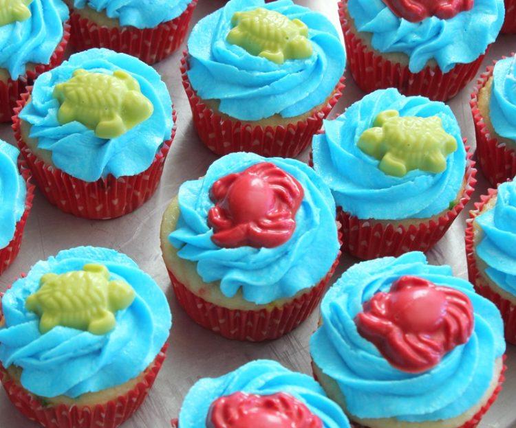 ocean themed cupcakes