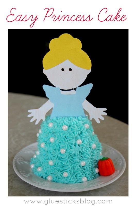princess cake made out of cupcake
