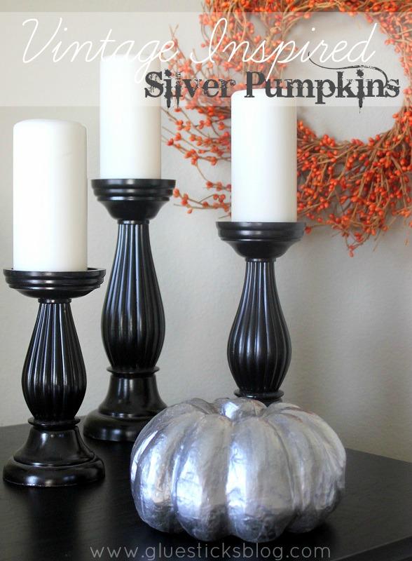 vintage inspired silver pumpkins