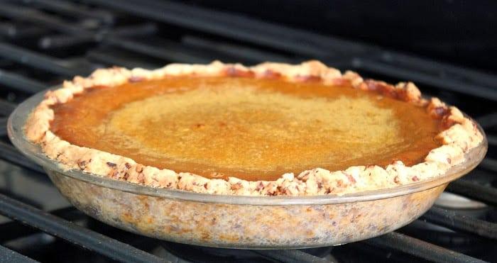 pumpkin pie baked in crust