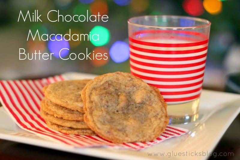 Milk Chocolate Macadamia Butter Cookies