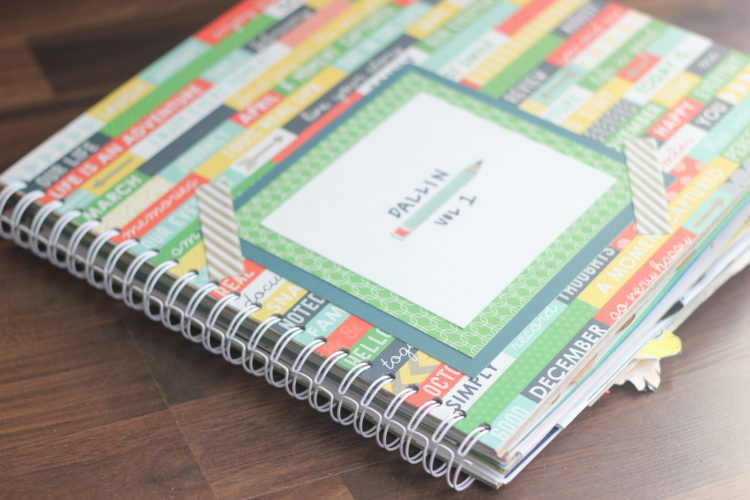 outer cover of diy scrapbook