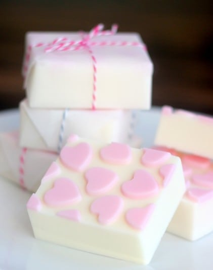 Fresh Raspberry Soap {in 3 steps}