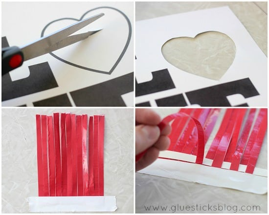 duct tape weaved card