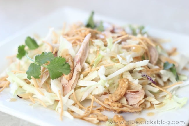 Chinese Chicken Salad on plate
