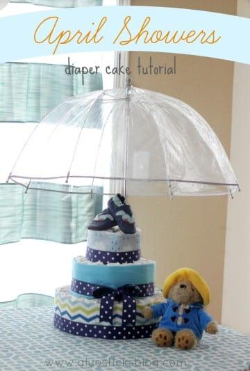 April Showers Diaper Cake Tutorial