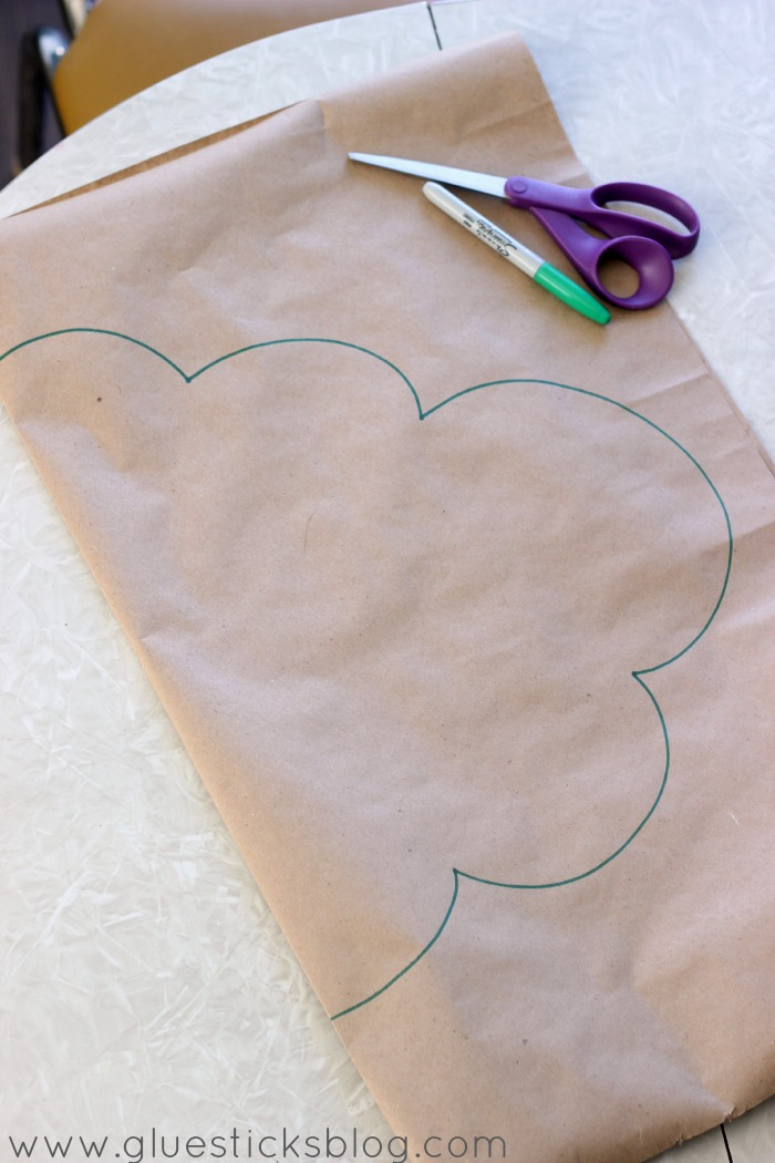 baby mobile paper cloud pattern