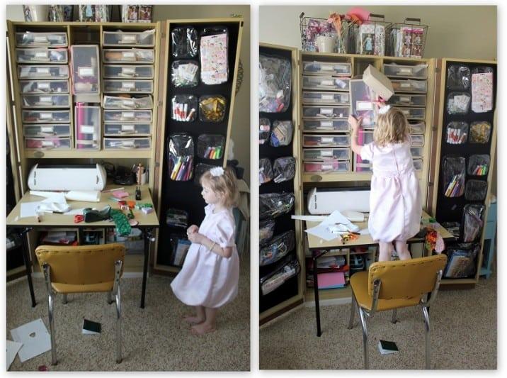 Organizing Kids' Craft Areas