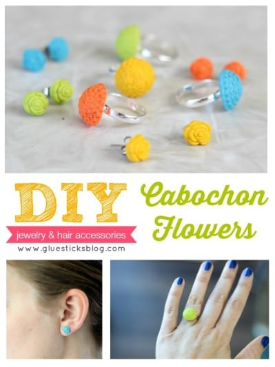 DIY Cabochon Flowers collage
