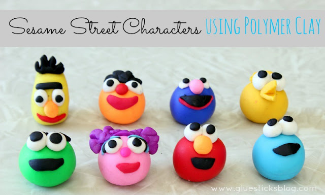 Sesame Street polymer characters