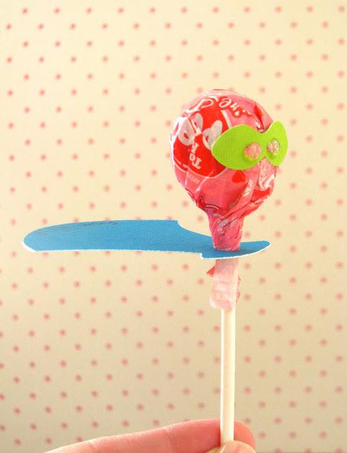super hero themed lollipop