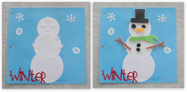 snowman busy book page