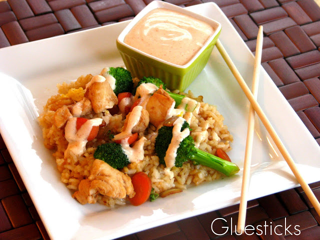 Make yourown homemade Yum Yum Sauce when you're cooking up a stir fry or yummy fried rice at home. This is it, folks! THE sauce that they serve at the Japanese Steakhouse restaurants!