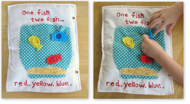 fish bowl quiet book page