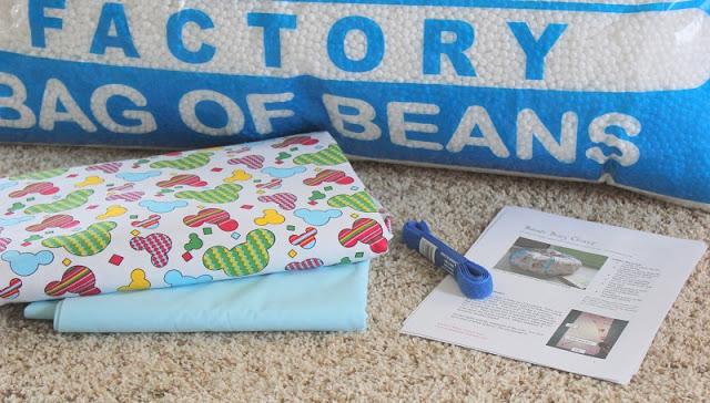 fabric and bean bag filler
