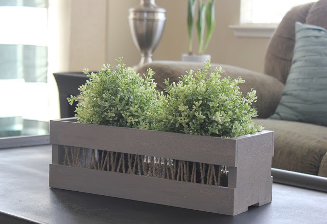 crate with plants inside