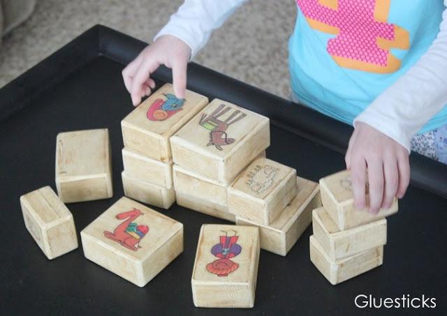 wooden blocks nativity set for kids