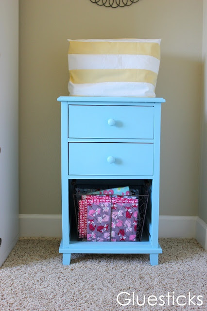 old file cabinet painted blue