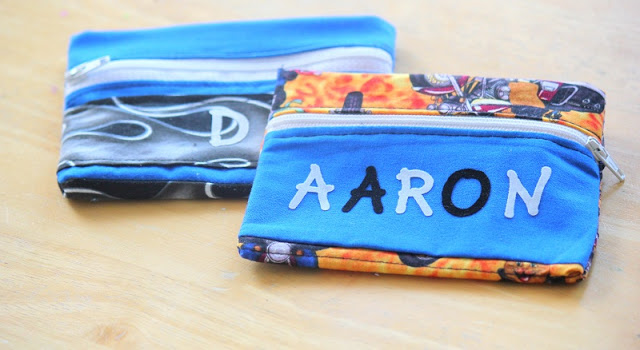 kids wallets with names ironed on the front