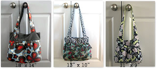 handbag in 3 sizes and fabric patterns