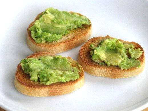 slices of avocado toast