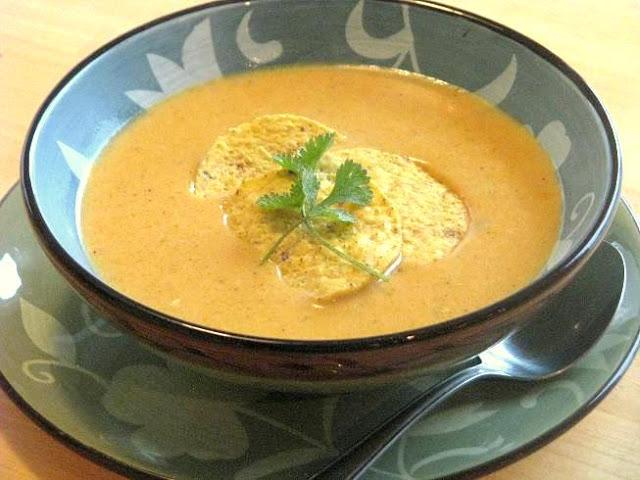 bowl of enchilada soup