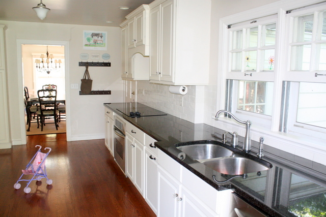 cleared off kitchen counters