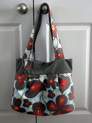 large wasp handbag with floral fabric